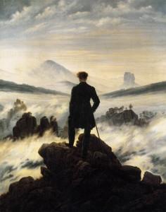 viandante mare nebbia
