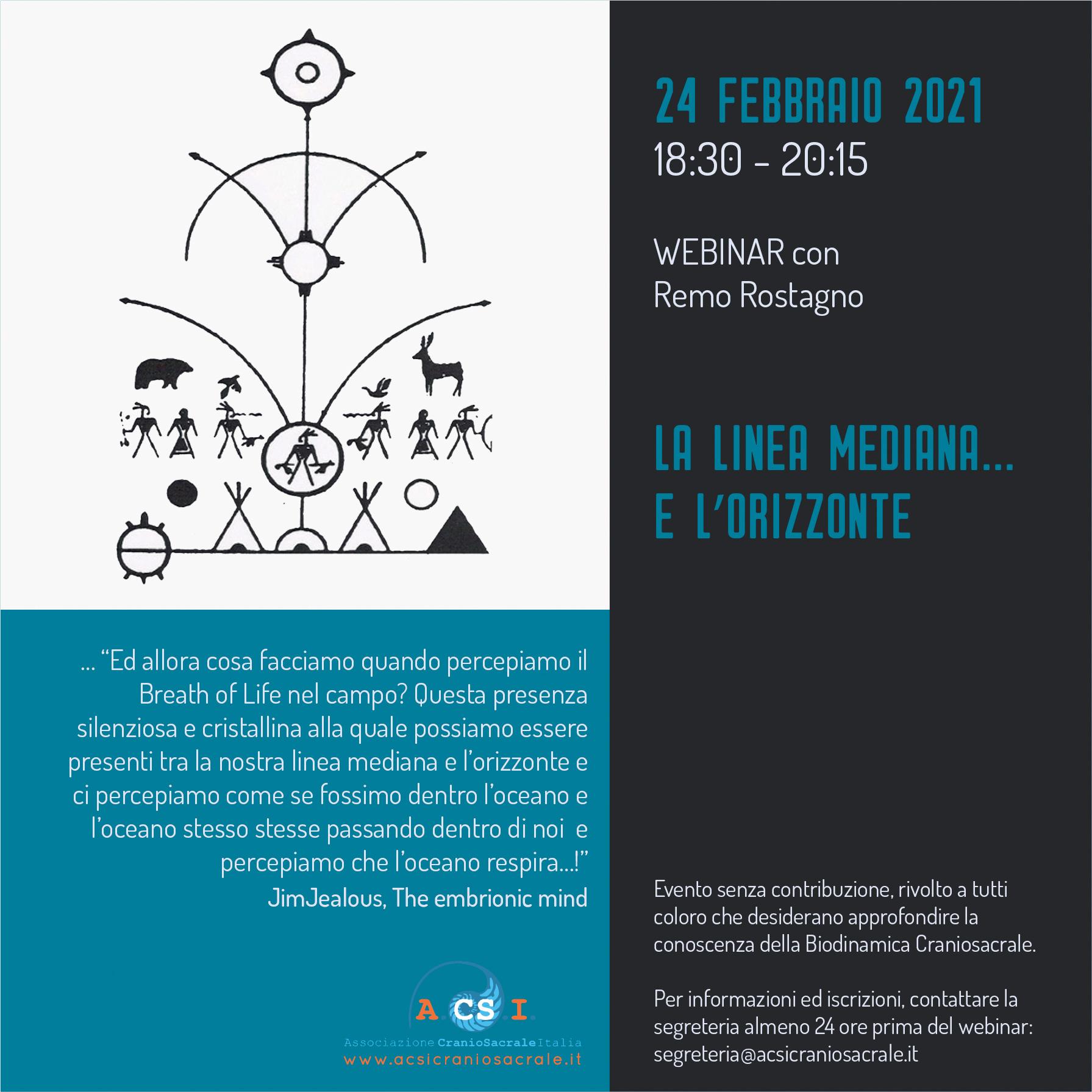 Webinar Soci Istruttori A.CS.I. : La linea mediana ...... e l'orizzonte